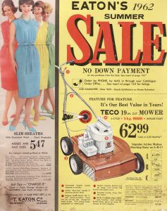 Summer Eaton's Catalogue 1962