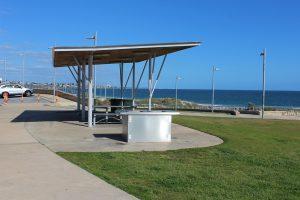 Public barbecue at Sorrento Beach near Perth, Australia