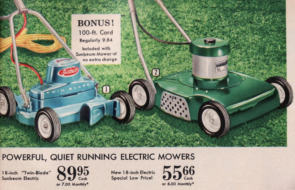 electric mowers p 175