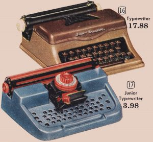 Toy typewriters